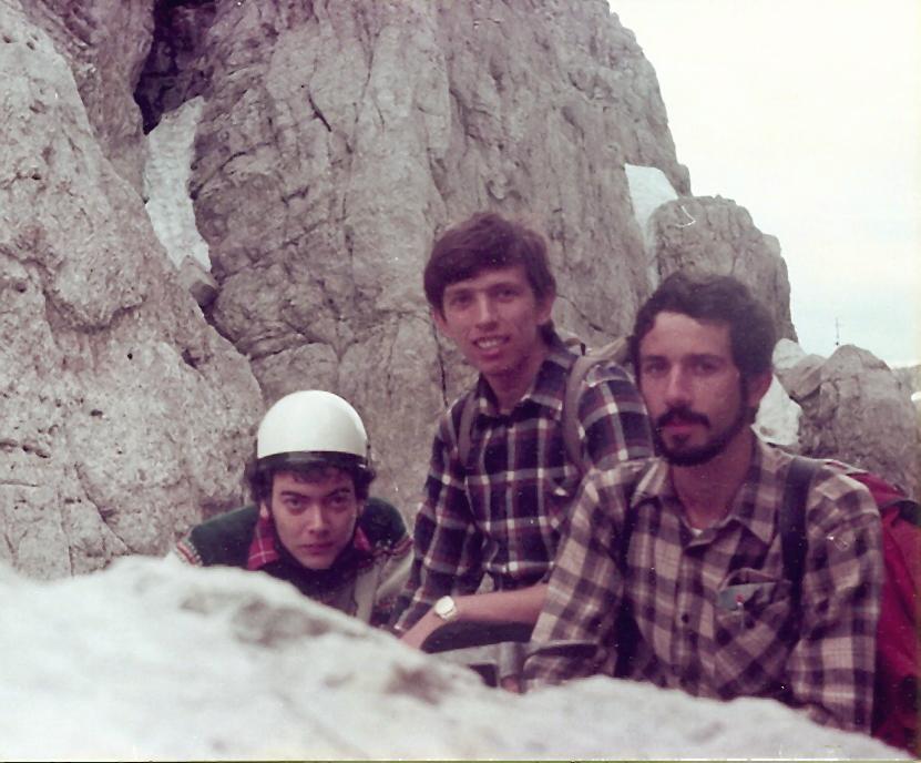 Ivano, Lucio ed il sottoscritto sul Gruppo del Brenta